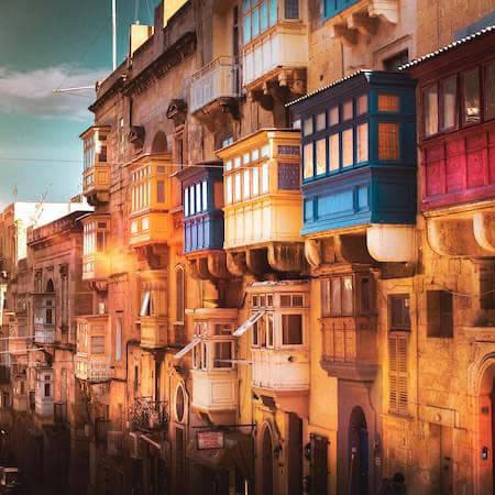 Colourful buildings in Malta