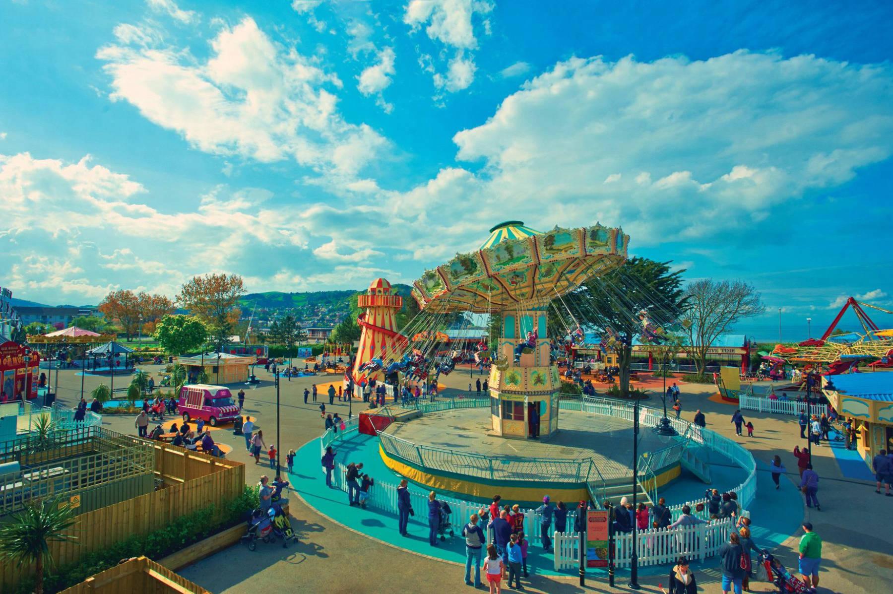fairground in butlins minehead resort
