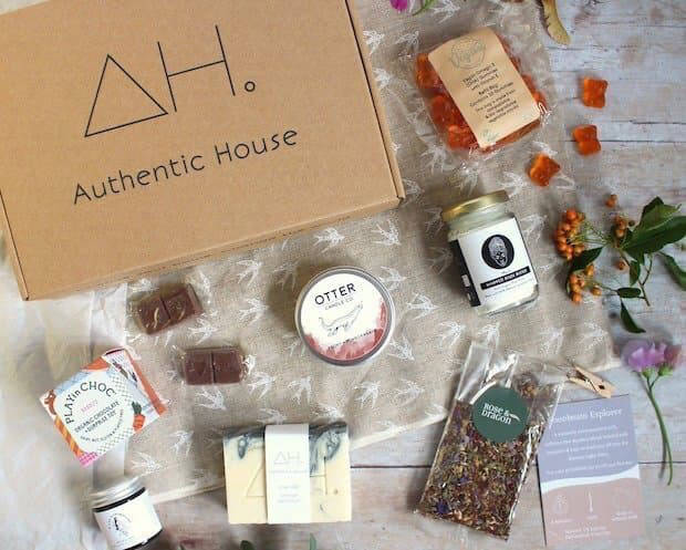 Authentic House box of sustainable lifestyle products