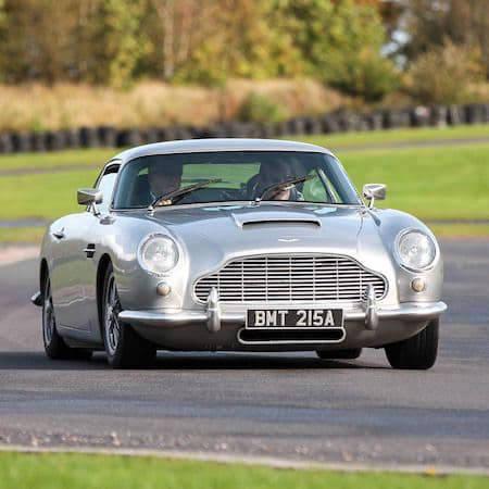 Aston Martin on a racetrack