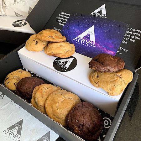 Arrival Cookies box
