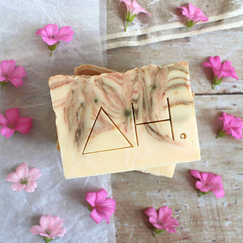 Authentic House geranium and pink clay soap