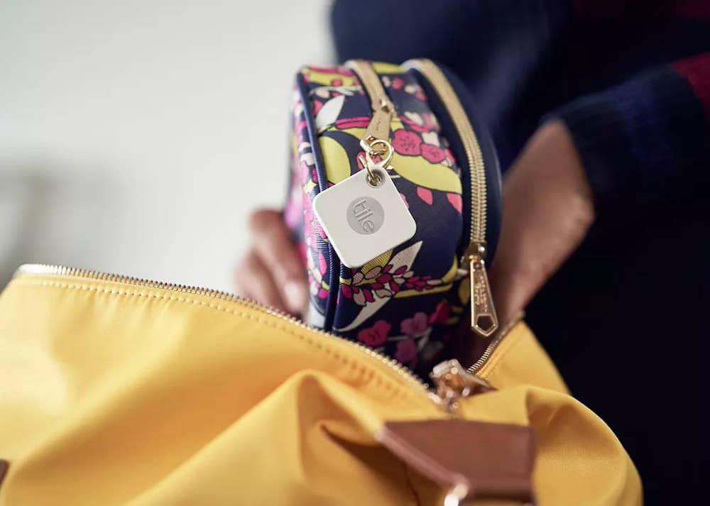 Tile Mate key finder attached to wallet