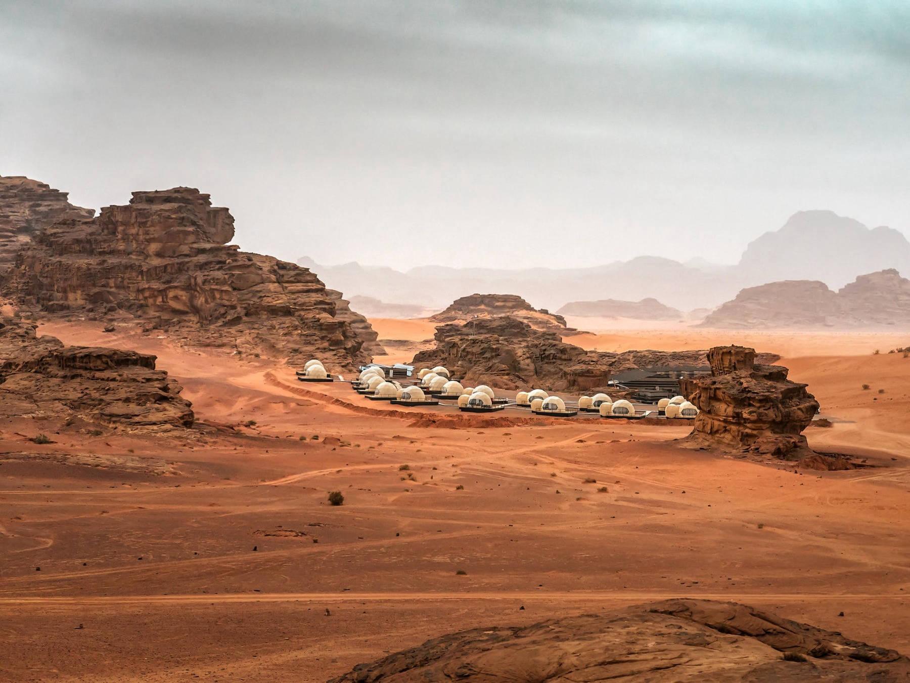 martian domes in jordan desert