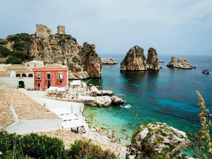 Sicilian coast in Palermo