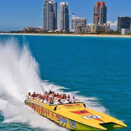 Speedboat tour of Miami