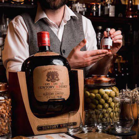 Large Japanese whisky bottle