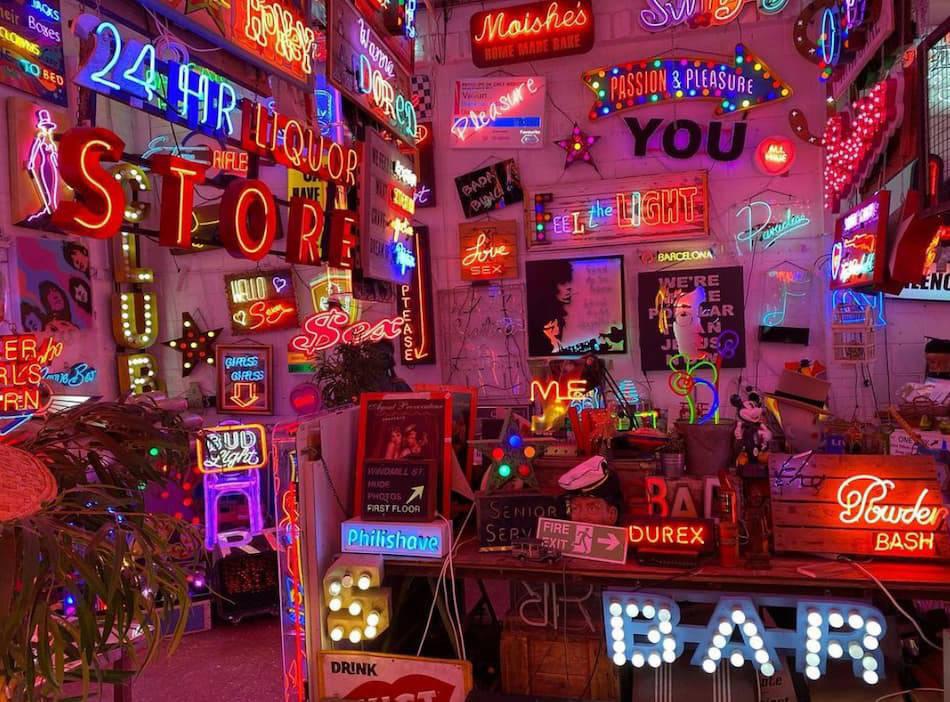 Gods Own Junkyard neon signs