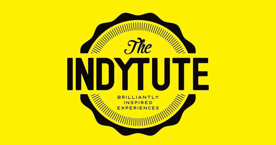 The Indytute logo on a yellow background