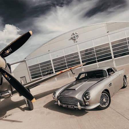 Aston Martin in a showroom