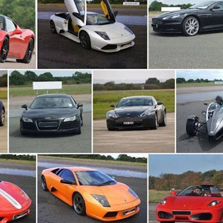 Line up of supercars