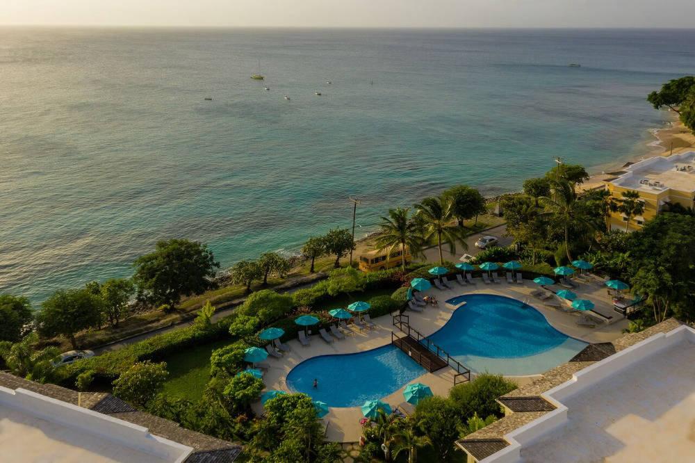 Hotel on Barbados beach