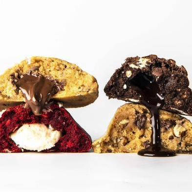 Four Arrival Cookies with melt in the middle fillings