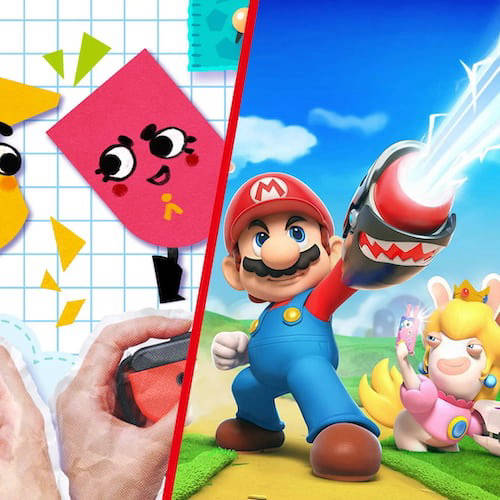 Snipperclips and Mario Rabbids