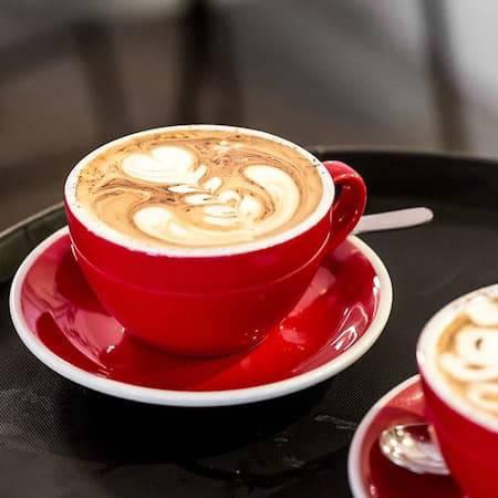 Coffee in red mug