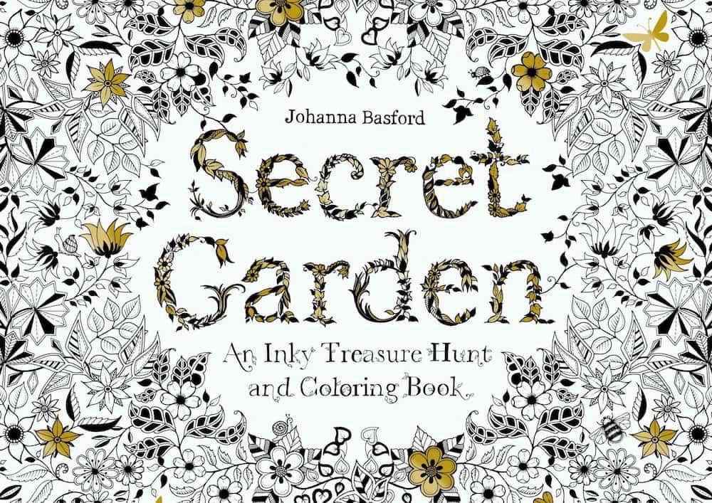 Johanna Basford's Secret Garden colouring book