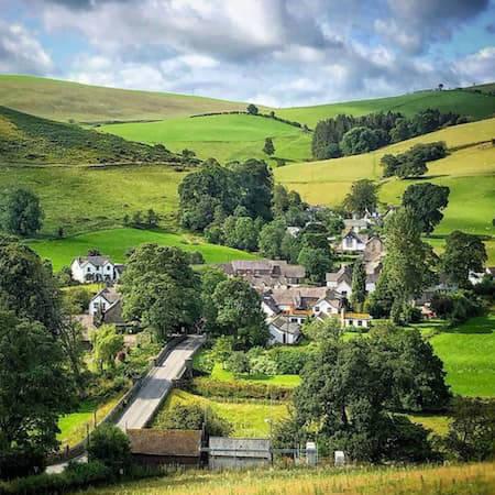 Ceirog valley village