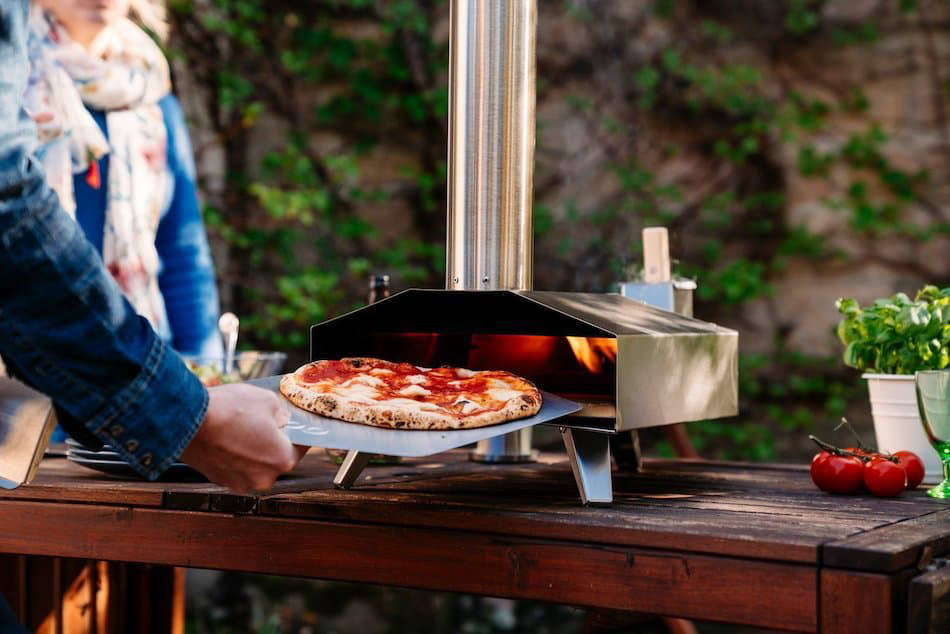 Pizza in the Ooni Koda 16 pizza oven
