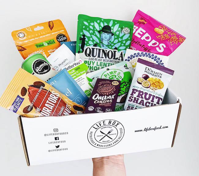 Box of vegan and gluten free snacks