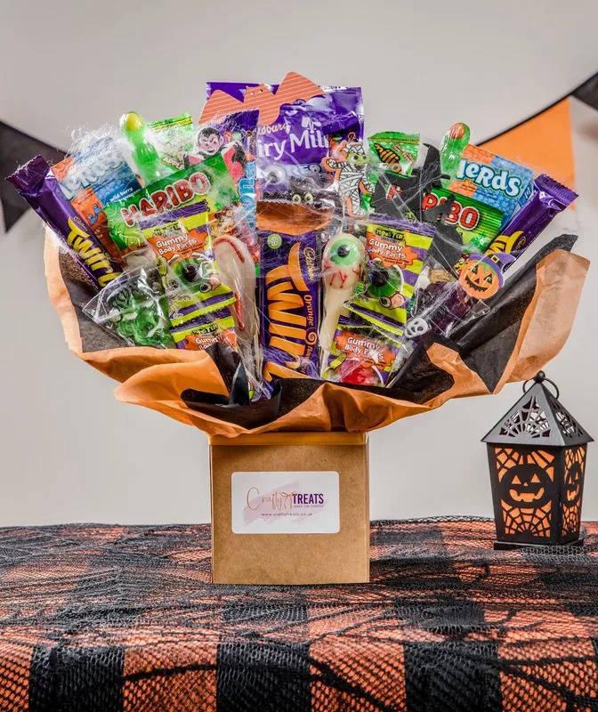 Halloween chocolate treats bouquet