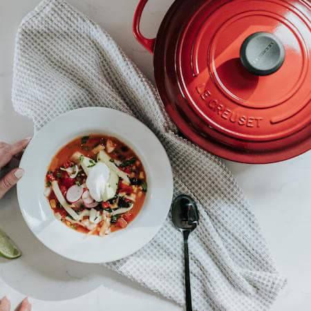 Le Creuset casserole dish