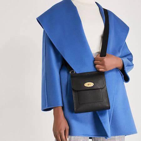 Woman wearing the Mulberry Antony handbag