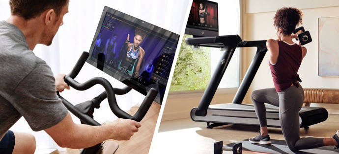 People using Peloton products