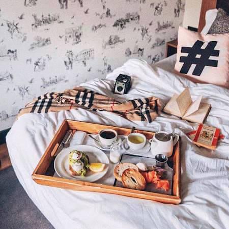 Luxury breakfast in bed