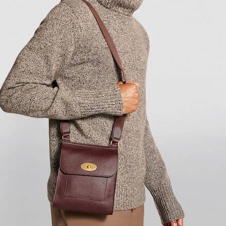 Woman wearing the Antony Mulberry handbag
