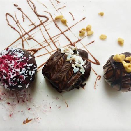 Decorated chocolate truffles