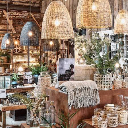Plants, textiles and an array of home decor
