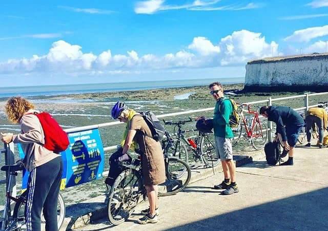 Bicycle tour group