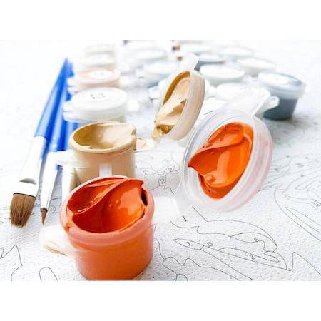 Paint by numbers painting set