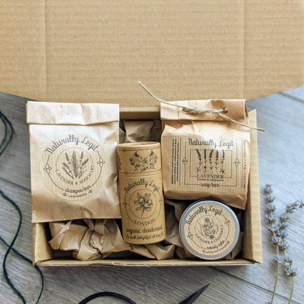 Naturally Legit skincare products in recyclable packaging