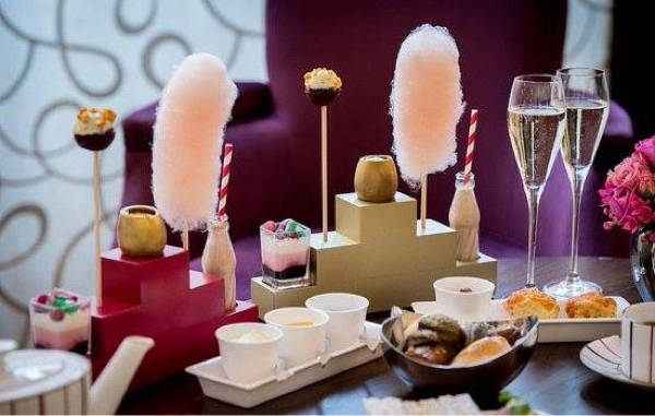 Luxury afternoon tea with prosecco