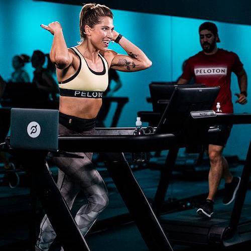 Peloton machines at a gym