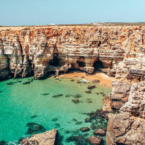 cliffs in algarve