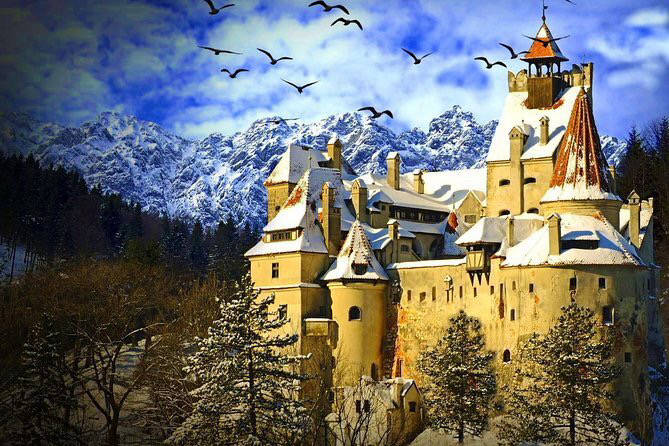 Snow-covered castle