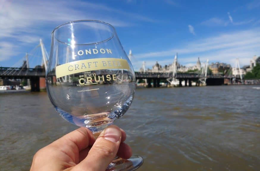 Pride of London Craft Beer Cruise glass