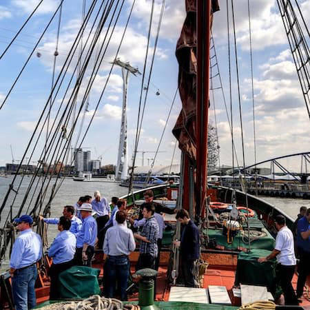 Sailing barge cruise on the Thames