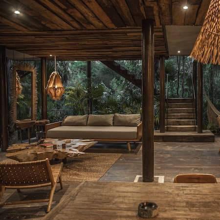 Jungle hotel room