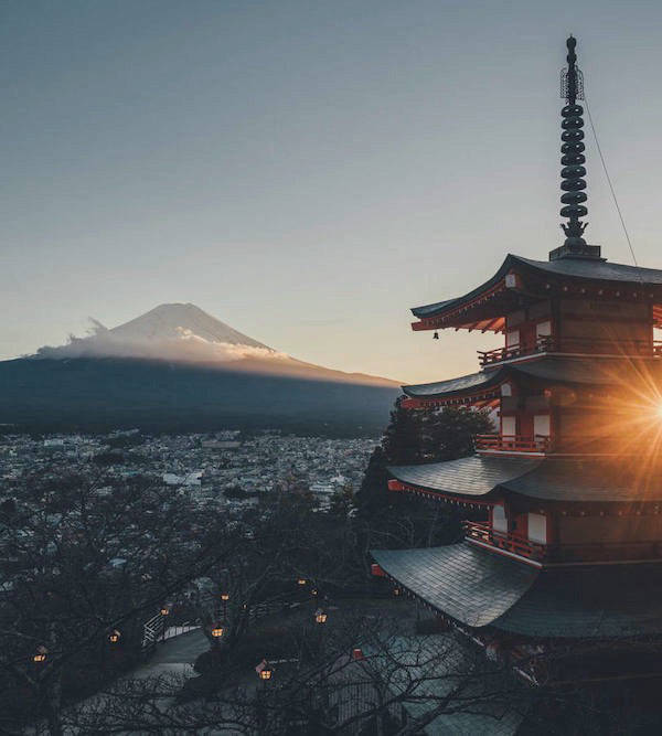 Chureito Pagoda overlooking Mount Fuji