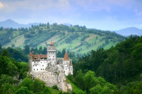 a castle on a mountain in slovenia