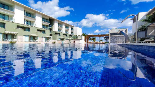 Luxury hotel pool