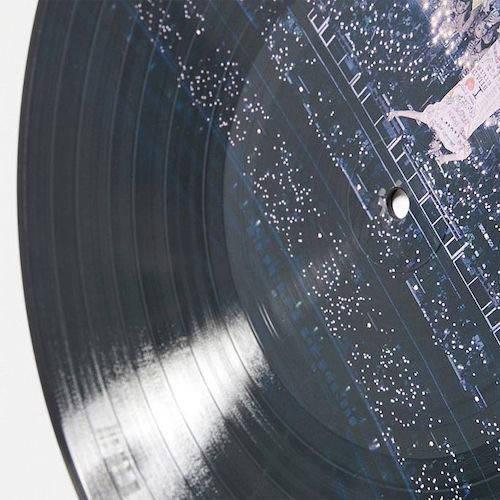 Close up photo of vinyl record