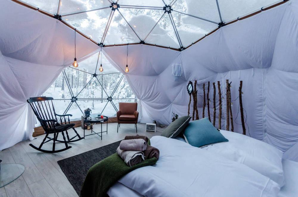 Igloo dome in the Arctic Circle